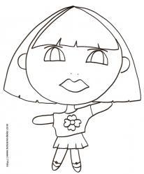"""Coloriage de """" baby doll """" à la fleur"""