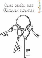 Coloriage des clés de Barbe Bleue