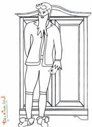 Barbe Bleue devant l'armoire