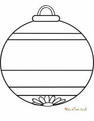 Boule de Noël à grosses rayures