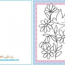 Carte cadeau colombe et fleur