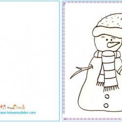 Carte à cadeaux Bonhomme de neige 2