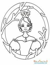 Coloriage du portrait de Cendrillon