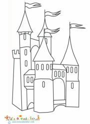 Château aux tours à drapeaux