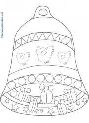 Coloriage grosse cloche de Pâques