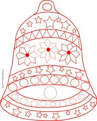 coloriage de la cloche étoilée de Noël