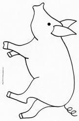 Imprimer le coloriage animaux de la ferme : le cochon 2