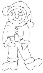 Imprimer le coloriage du dessin d'un lutin ours. Un coloriage à imprimer gratuitement