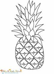 Ananas à colorier