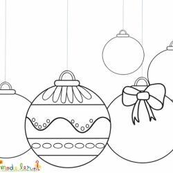 5 Boules de Noël à colorier