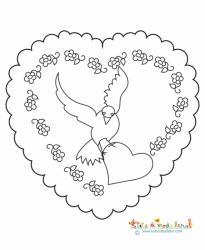 Coeur à la colombe pour la fête des mères
