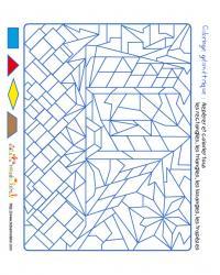 Jeu de coloriage de formes géométriques pour découvrir le véhicule n°3