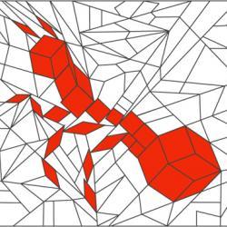 Solution du Jeu de coloriage géométrique : animal n°2