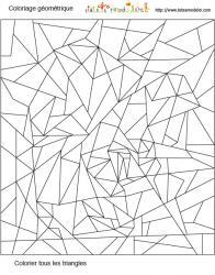 Coloriage géométrique triangle