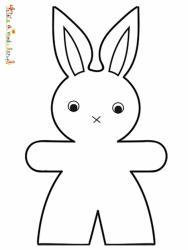 Coloriage lapin facile