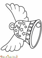 Cloche de Pâques aux étoiles