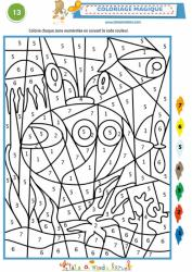 Coloriage codé simple