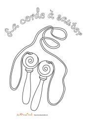 Coloriage d'un jouet : la corde à sauter