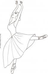Coloriage d'une danseuse de ballet
