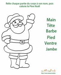 Imprimer l'activité sur le corps du Père Noël
