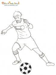 Coloriage joueur de foot de l'équipe d'Allemagne