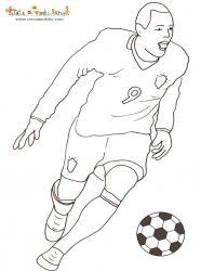 Coloriage du gardien de l'équipe de foot du Brésil