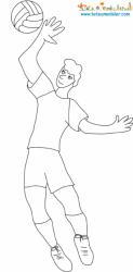 Un coloriage sur le Handball