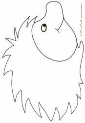 coloriage d'un hérisson au nez rond