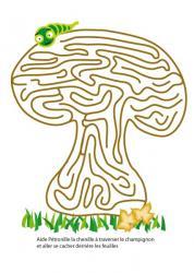 Jeu labyrinthe champignon d'automne