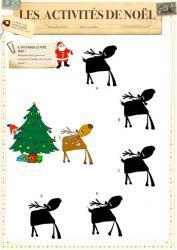 Jeu des ombres du renne de Noël