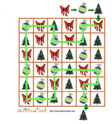 Solution du jeu de suite logique : le sapin de Noël