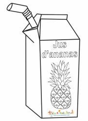 Coloriage jus d'ananas