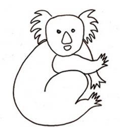 coloriage d'un koala : dessin 2