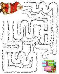 Jeu de Noel : imprime ce jeu et aide le Père Noà´l à retrouver ses cadeaux ! Un labyrinthe de Noà´l à imprimer pour jouer en attendant le Père Noà´l