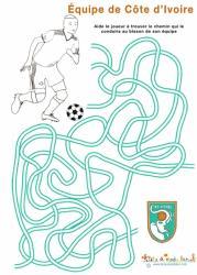 Jeu de labyrinthe de l'équipe de foot de Côte d'Ivoire