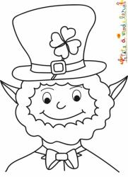 Coloriage du portrait du Leprechaun