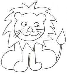 coloriage d'un lion