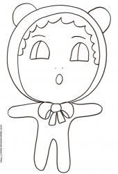 """Coloriage de """"Little Baby"""" le b&eacute&#x3B;b&eacute&#x3B; au bonnet"""