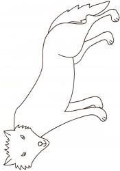 coloriage d'un loup dessin 1