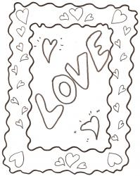 Cadre rectangluaire love