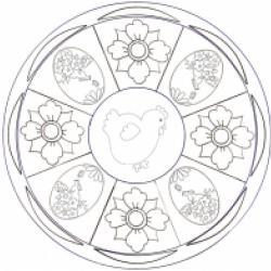 Coloriage Mandala Poule de Pâques