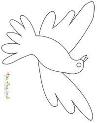 Modèle de colombe à la manière de Picasso