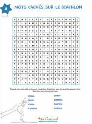 Biathlon - jeu mots cachés 4