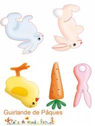 Décorations de Pâques à imprimer : verso