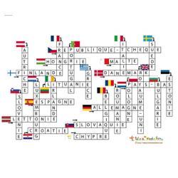 solution du Jeu de mots fléchés: les pays de l'union Européenne et leurs drapeaux