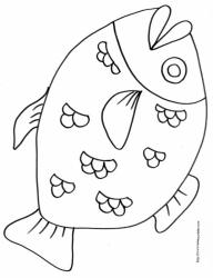 Coloriage de poisson pour les enfants, à télécharger gratuitement et à imprimer. Un coloriage sur le thème de la mer pour occuper les enfants. Ce coloriage pourra être utilisé pour illustrer des dessins ou à coller dans un cahier de coloriages.