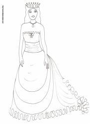 Coloriage de la princesse à la couronne