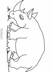 Coloriages d'un rhinocéros  de la savane