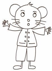 Coloriage enfant coloriage mimi souris dans son salon enfant tete a modeler - Imprimer coloriage petite souris ...