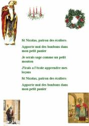 "Imprimer la chanson "" Saint Nicolas patron des écoliers"